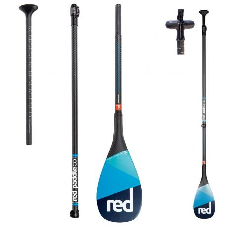 RED PADDLE CARBON FULL 100% 3 PARTS LEVERLOCK
